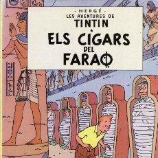Cómics: ELS CIGARS DEL FARAÓ - HERGE - JOVENTUT -TAPA DURA - EN CATALAN (1989). Lote 68384453