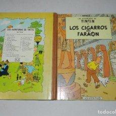Cómics: (M) LAS AVENTURAS DE TINTIN - LOS CIGARROS DEL FARAON, EDT JUVENTUD, 3 EDC 1968, SEÑALES DE USO. Lote 69626725