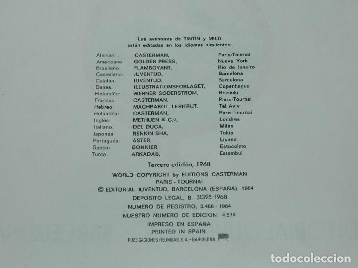Cómics: (M) LAS AVENTURAS DE TINTIN - LOS CIGARROS DEL FARAON, EDT JUVENTUD, 3 EDC 1968, SEÑALES DE USO - Foto 3 - 69626725