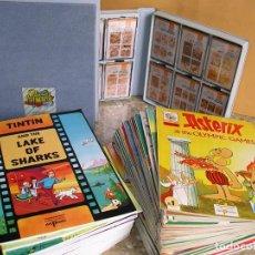 Cómics: TINTIN + ASTERIX + CASSETTES + FICHAS DE ESTUDIO + CARPETAS, ED. DEL PRADO, COMPLETA EN INGLES, 6J. Lote 69655093