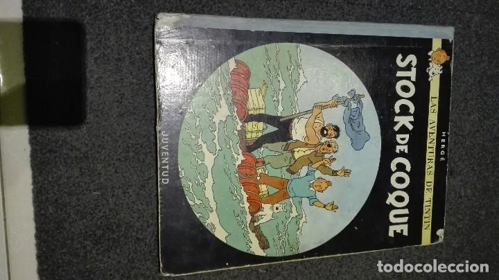 COMIC DE TINTIN 3 EDICION 1967 STOCK DE COQUE .COMPLETO (Tebeos y Comics - Juventud - Tintín)