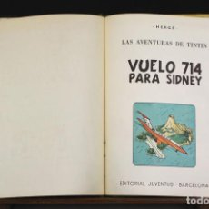 Cómics: 8261 - TINTÍN VUELO 714 PARA SIDNEY. 1ª EDICIÓN. LOMO VERDE. HERGÉ. EDIT. JUVENTUD. 1969.. Lote 70513209
