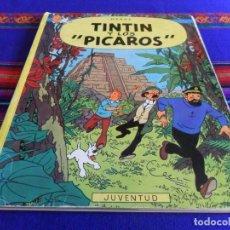 Cómics: BUEN PRECIO TINTIN Y LOS PÍCAROS 1ª PRIMERA EDICIÓN EN RÚSTICA. JUVENTUD 1976. RARO.. Lote 72227815