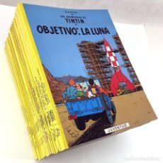 Cómics: COLECCION LAS AVENTURAS DE TINTIN 23 TOMOS JUVENTUD EN EL CONGO TIBET AMERICA LA LUNA HERGE - LEER -. Lote 73849611