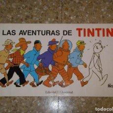 Cómics: LAS AVENTURAS DE TINTIN. POSTER, MEDIDAS 48X26 CM., SIN DOBLAR. HERGÉ. Lote 74861775