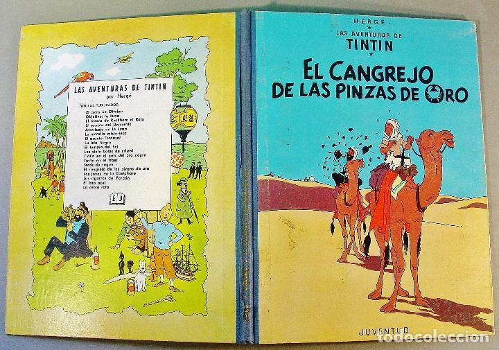 Cómics: TINTIN. EL CANGREJO DE LAS PINZAS DE ORO. SEGUNDA EDICIÓN. 1966. BUEN ESTADO DE CONSERVACIÓN. - Foto 2 - 77588765