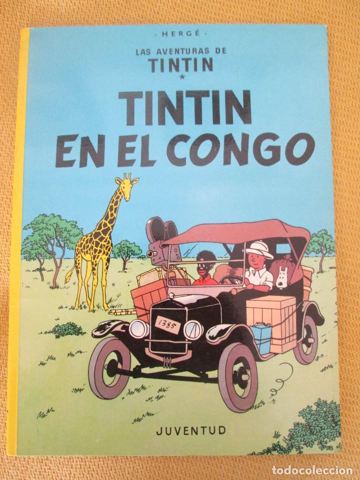 TINTIN EN EL CONGO TINTIN HERGE EDITORIAL JUVENTUD 2003 TAPA BLANDA (Tebeos y Comics - Juventud - Tintín)