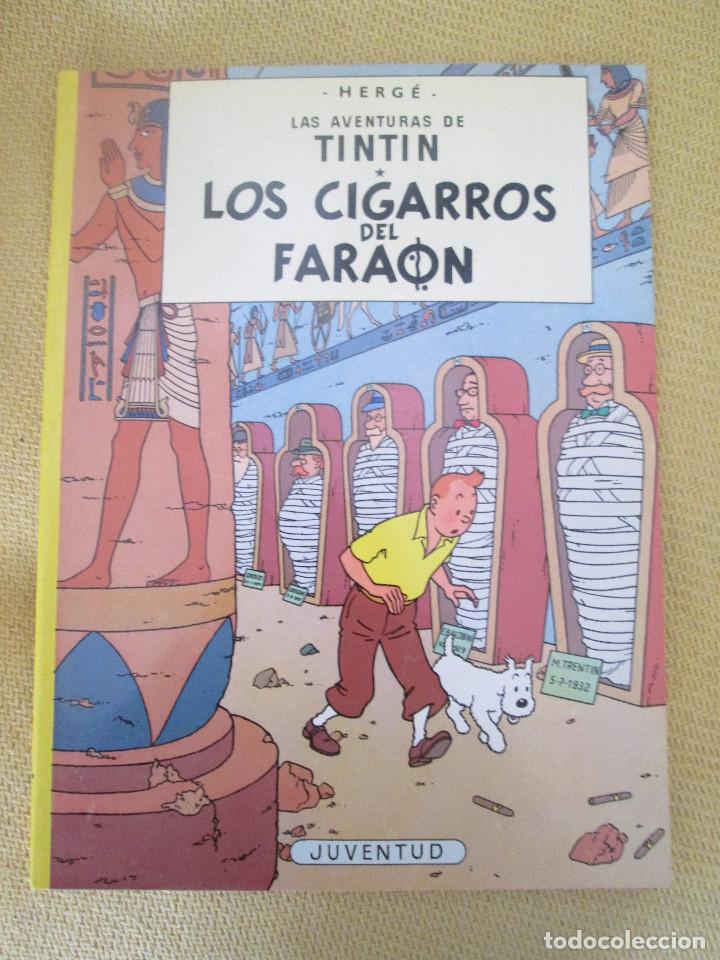 TINTIN LOS CIGARROS DEL FARAON TINTIN HERGE EDITORIAL JUVENTUD 2003 TAPA BLANDA (Tebeos y Comics - Juventud - Tintín)