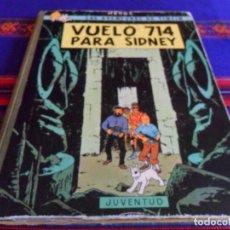 Cómics: TINTIN VUELO 714 PARA SIDNEY PRIMERA 1ª EDICIÓN. JUVENTUD 1969. CORRECTO ESTADO.. Lote 80435157