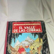 Cómics: LAS AVENTURAS DE JO , ZETTE Y JOCKO . EL VALLE DE LAS COBRAS . HERGÉ JUVENTUD PRIMERA EDICION . TELA. Lote 81560936