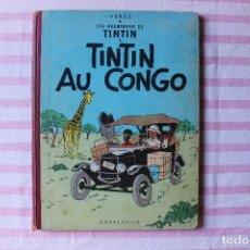 Cómics: TINTIN AU CONGO, CASTERMAN 1959, EN FRANCÉS. Lote 82936412