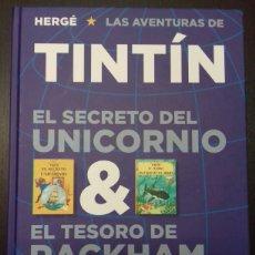 Cómics: TINTÍN. EL SECRETO DEL UNICORNIO & EL TESORO DE RACKHAM EL ROJO - EDITORIAL JUVENTUD. Lote 83089627