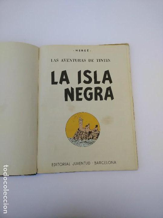 Cómics: TINTIN LA ISLA NEGRA. 1ª EDICIÓN. PRIMERA EDICIÓN EN CASTELLANO - Foto 4 - 83850020