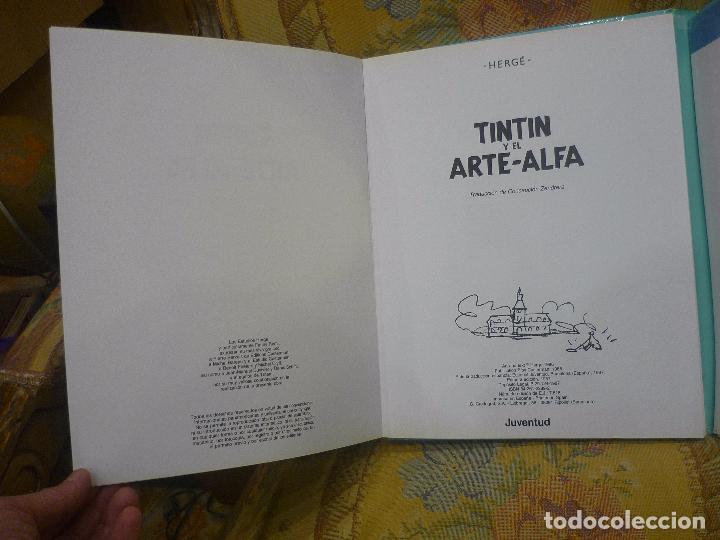 Cómics: TINTÍN Y EL ARTE-ALFA, DE HERGÉ. EDITORIAL JUVENTUD, 1ª EDICIÓN 1.987. - Foto 6 - 84661084