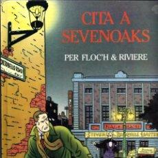 Cómics: FLOC'H & RIVIERE - CITA A SEVENOAKS - ED. JOVENTUT 1992 - RAR I DIFICIL . Lote 85085188