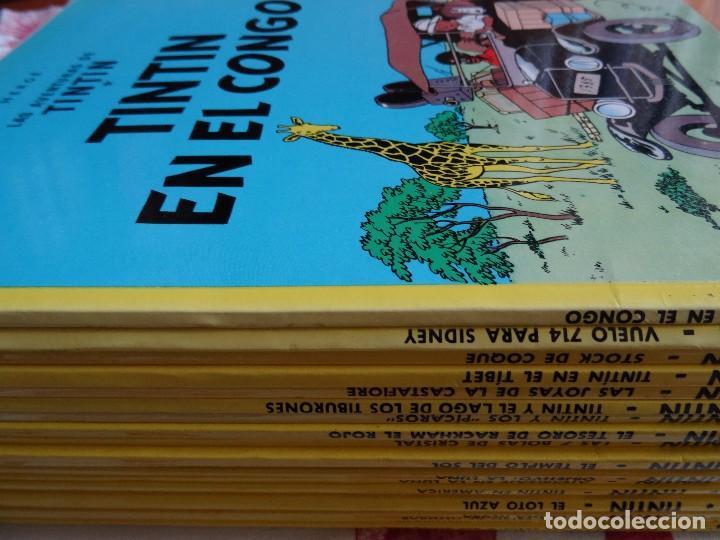 TINTIN - COLECCIÓN 22 EJEMPLARES EN TAPA RÚSTICA (ED. JUVENTUD) (Tebeos y Comics - Juventud - Tintín)