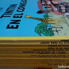 Cómics: TINTIN - COLECCIÓN 22 EJEMPLARES EN TAPA RÚSTICA (ED. JUVENTUD). Lote 85313232