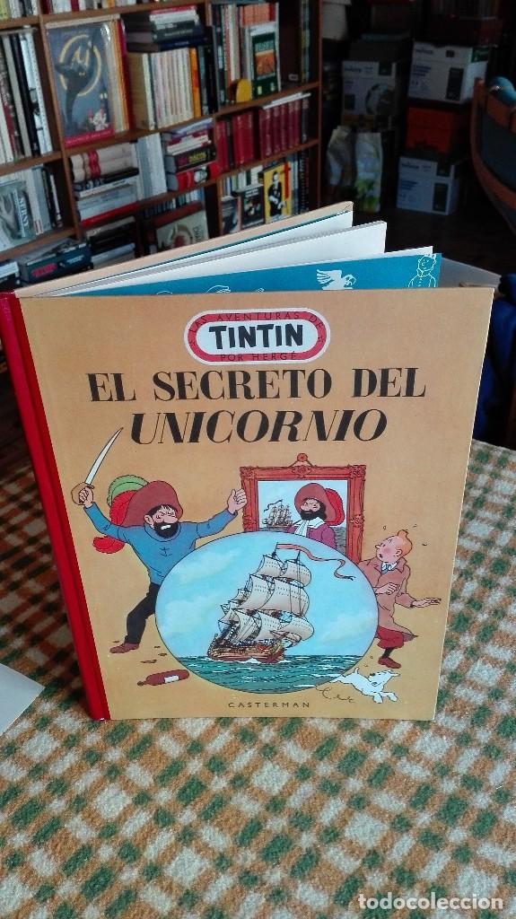 Cómics: TINTIN. EL SECRETO DEL UNICORNIO & EL TESORO DE RACKHAM EL ROJO. EDICIÓN DEL MEDALLÓN - Foto 2 - 85813496