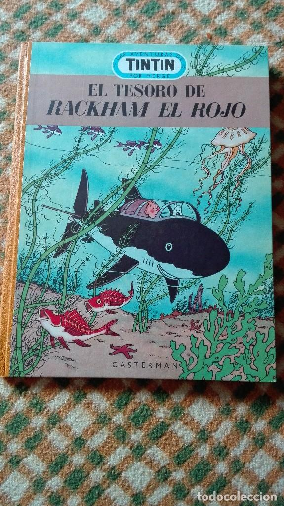 Cómics: TINTIN. EL SECRETO DEL UNICORNIO & EL TESORO DE RACKHAM EL ROJO. EDICIÓN DEL MEDALLÓN - Foto 4 - 85813496
