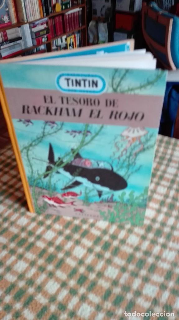 Cómics: TINTIN. EL SECRETO DEL UNICORNIO & EL TESORO DE RACKHAM EL ROJO. EDICIÓN DEL MEDALLÓN - Foto 5 - 85813496