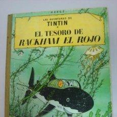 Cómics: TINTIN EL TESORO DE RACKHAM EL ROJO TERCERA EDICIÓN 1965 LOMO TELA. Lote 86548440