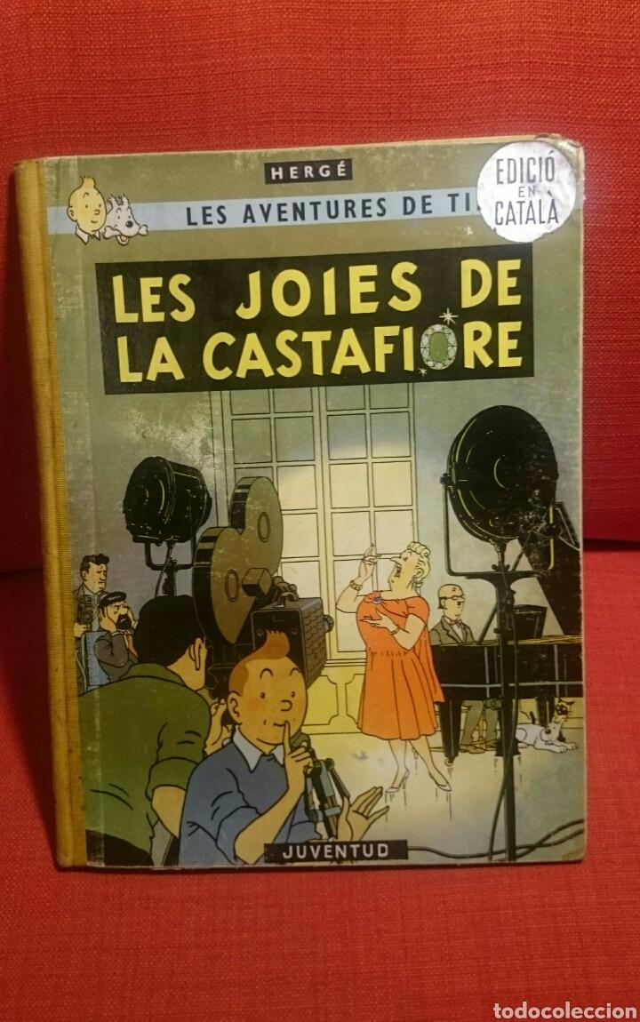 TINTIN-LES JOIES DE LA CASTAFIORE-CATALA-REIMPRESIO 1965 (Tebeos y Comics - Juventud - Tintín)