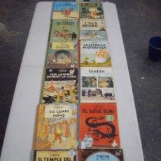 Cómics: LOTE DE 12 COMICS DE TINTIN PRIMERAS EDICIONES AÑOS 60 - 70 CATALAN Y ESPAÑOL. Lote 87663696