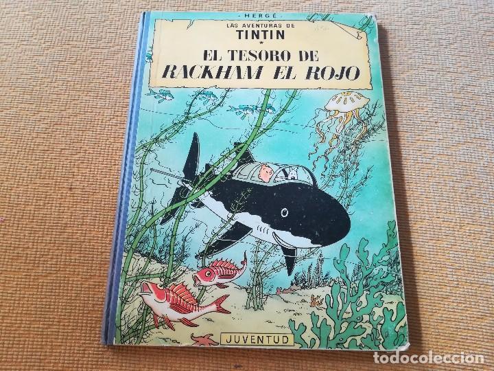 LAS AVENTURAS DE TINTIN - EL TESORO DE RACKHAM EL ROJO ,EDT JUVENTUD 4 EDC 1971 (Tebeos y Comics - Juventud - Tintín)