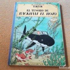 Cómics: LAS AVENTURAS DE TINTIN - EL TESORO DE RACKHAM EL ROJO ,EDT JUVENTUD 4 EDC 1971. Lote 89039156
