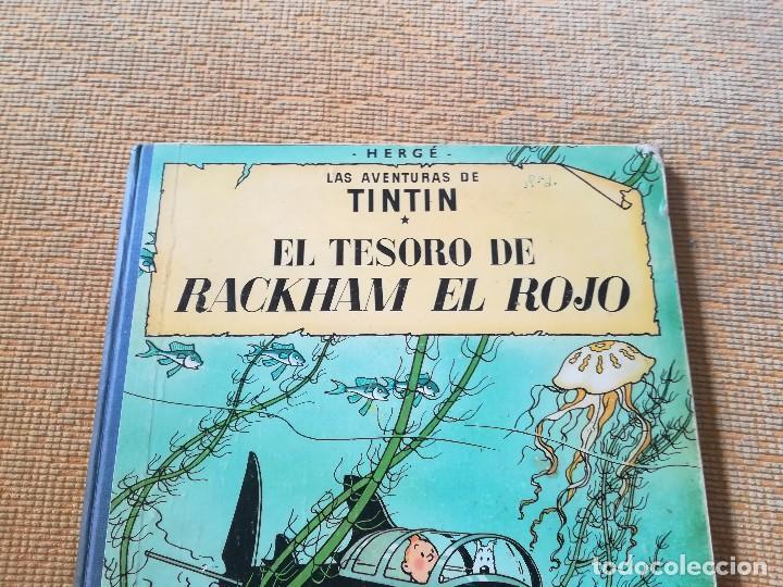 Cómics: LAS AVENTURAS DE TINTIN - EL TESORO DE RACKHAM EL ROJO ,EDT JUVENTUD 4 EDC 1971 - Foto 7 - 89039156