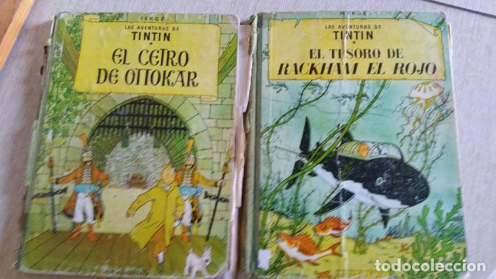 LOTE DE TINTIN - CETRO DE OTTOKAR (SEGUNDA EDICIÓN) - TESORO DE RACKHAM EL ROJO (TERCERA EDICIÓN) (Tebeos y Comics - Juventud - Tintín)