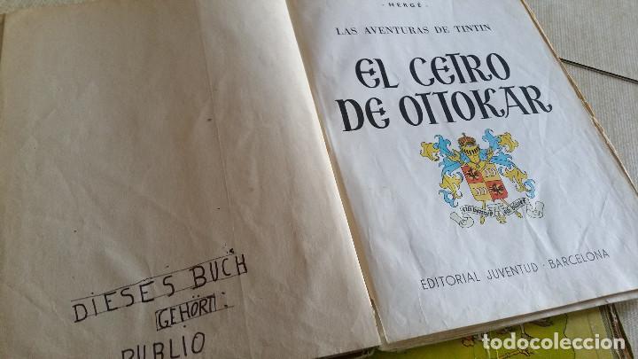 Cómics: LOTE DE TINTIN - CETRO DE OTTOKAR (SEGUNDA EDICIÓN) - TESORO DE RACKHAM EL ROJO (TERCERA EDICIÓN) - Foto 3 - 89241792