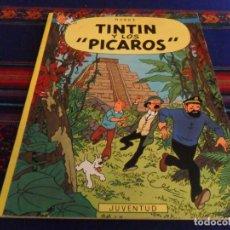 Cómics: TINTIN Y LOS PÍCAROS 1ª PRIMERA EDICIÓN RÚSTICA. JUVENTUD 1976. MUY BUEN ESTADO Y DIFÍCIL.. Lote 89632248