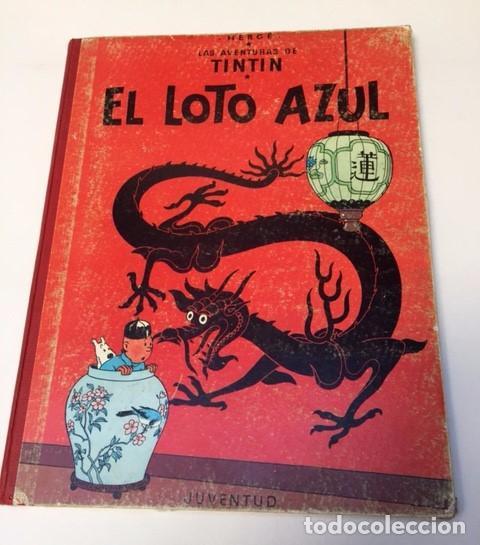 TINTÍN. JUVENTUD. EL LOTO AZUL. HERGÉ, TERCERA EDICIÓN 1970. LOMO TELA (Tebeos y Comics - Juventud - Tintín)