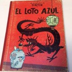 Cómics: TINTÍN. JUVENTUD. EL LOTO AZUL. HERGÉ, TERCERA EDICIÓN 1970. LOMO TELA. Lote 89654228