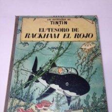 Cómics: TINTÍN. JUVENTUD. EL TESORO DE RACKHAM EL ROJO. 4ª EDICIÓN 1971. LOMO TELA.. Lote 89655128