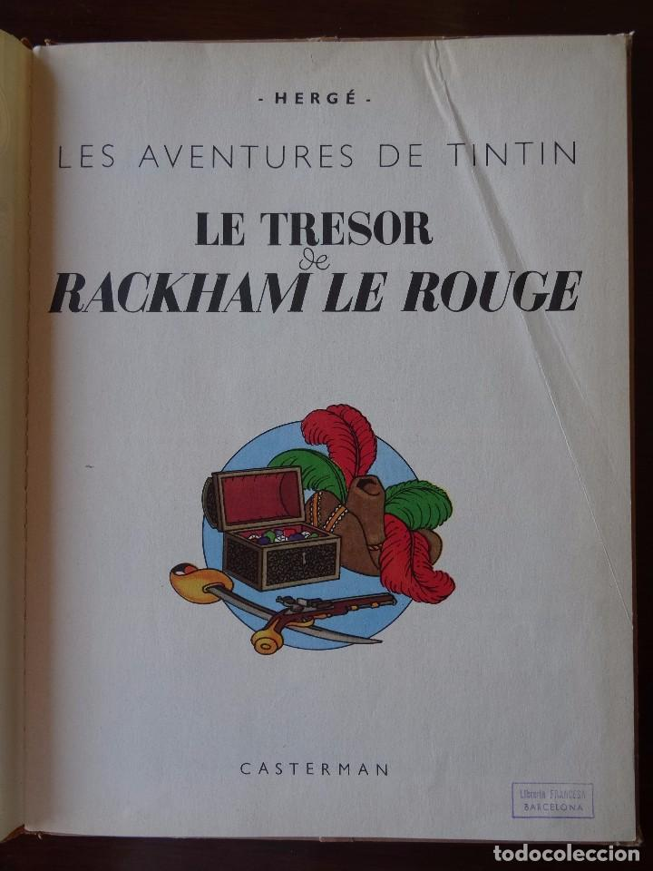 Cómics: TINTIN - LE TRESOR DE RACKHAM LE ROUGE - CASTERMAN - B26 - 1958/1959 - Foto 3 - 90079156