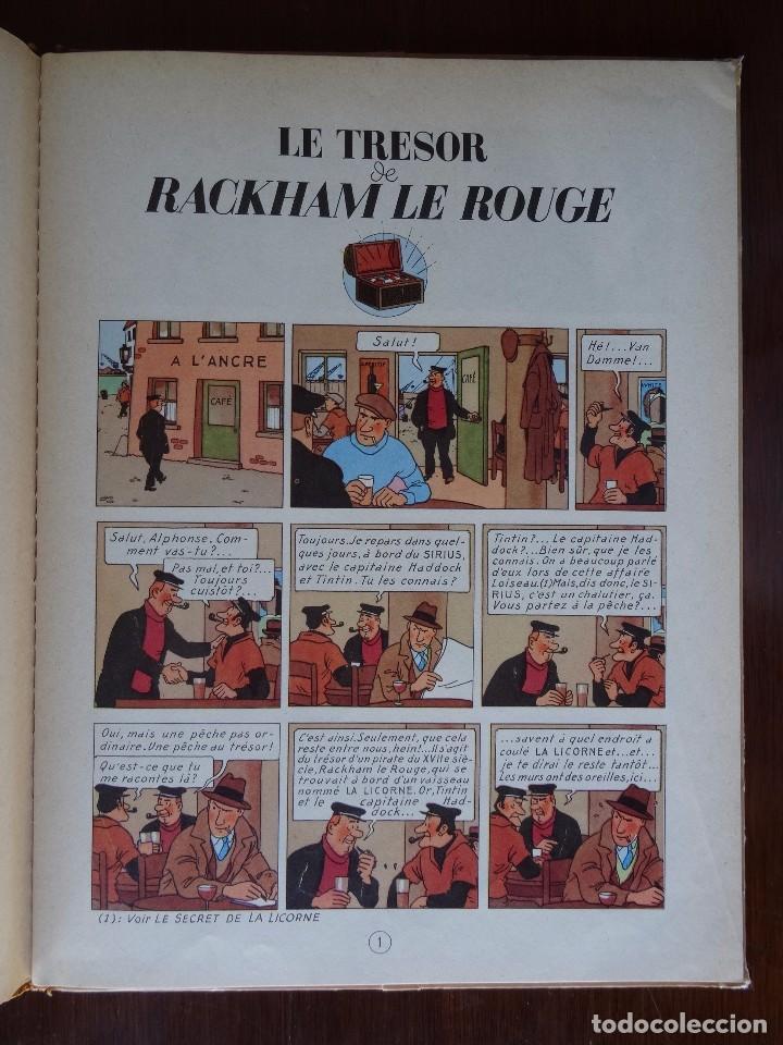 Cómics: TINTIN - LE TRESOR DE RACKHAM LE ROUGE - CASTERMAN - B26 - 1958/1959 - Foto 5 - 90079156
