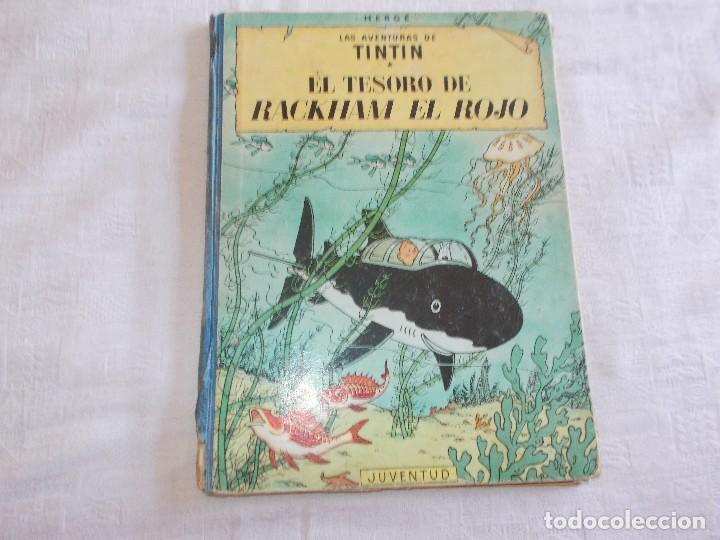 TINTIN EL TESORO DE RACKHAM EL ROJO 2ª EDICIÓN LOMO DE TELA (Tebeos y Comics - Juventud - Tintín)