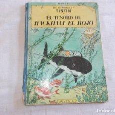 Cómics: TINTIN EL TESORO DE RACKHAM EL ROJO 2ª EDICIÓN LOMO DE TELA. Lote 90094688