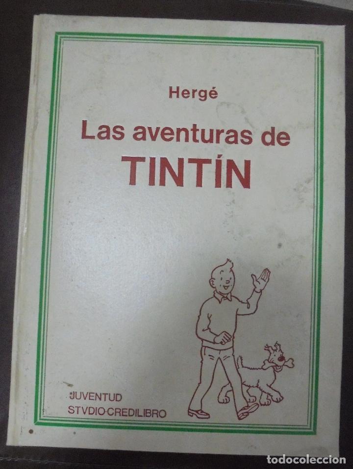 LAS AVENTURAS DE TINTIN. HERGE. TOMO 2. EDITORIAL JUVENTUD. STUDIO-CREDILIBRO. BUEN ESTADO (Tebeos y Comics - Juventud - Tintín)