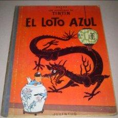 Cómics: EL LOTO AZUL - LAS AVENTURAS DE TINTIN - JUVENTUD - PRIMERA EDICION - 1965. Lote 90688055