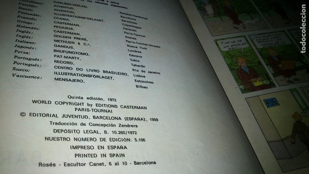 Cómics: EL CETRO DE OTTOKAR - LAS AVENTURAS DE TINTIN - JUVENTUD - QUINTA EDICION 1972 - Foto 2 - 90688630