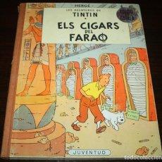 Cómics: LES AVENTURES DE TINTIN - ELS CIGARS DEL FARAÓ - HERGÉ - ED. JUVENTUD - 2ª EDICIÓ - 1965 - CATALÁN. Lote 90926295