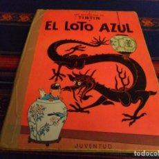Cómics: TINTIN EL LOTO AZUL 1ª PRIMERA EDICIÓN IMPRENTA ROSÉS. JUVENTUD 1965. REGALO EN EL TÍBET 3ª EDICIÓN.. Lote 91089435