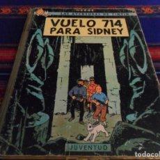 Cómics: TINTIN VUELO 714 PARA SIDNEY 1ª PRIMERA EDICIÓN. JUVENTUD 1969.. Lote 91090180