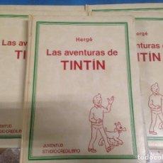 Cómics: LOTE 5 VOLUMENES COLECCION COMPLETA LAS AVENTURAS DE TINTIN HERGE ED JUVENTUD STUDIO STVDIO LIBRO. Lote 91153470