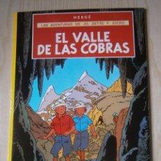 Cómics: LAS AVENTURAS DE JO, ZETTE Y JOCKO: EL VALLE DE LAS COBRAS. HERGÉ. JUVENTUD.. Lote 91647900