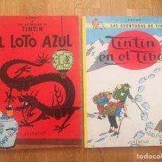 Cómics: TINTIN - EL LOTO AZUL + TINTIN EN EL TIBET- HERGÉ - JUVENTUD - TAPA BLANDA.. Lote 92186470