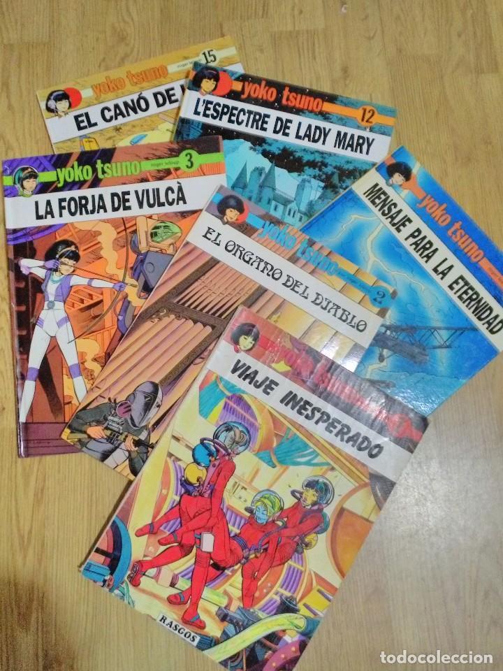 6 TEBEOS O CÓMICS DE YOKO TSUNO ED.RASGOS Y JUVENTUD DE 1983/90 CASTELLANO/CATALAN NºS 1,2,3,5,12,15 (Tebeos y Comics - Juventud - Yoko Tsuno)